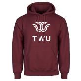 Maroon Fleece Hoodie-Institutional TWU