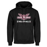 Black Fleece Hoodie-Volleyball Owl Graphic