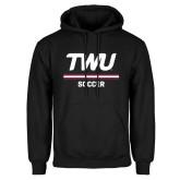 Black Fleece Hoodie-Soccer TWU Typeface