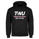 Black Fleece Hoodie-Volleyball TWU Typeface