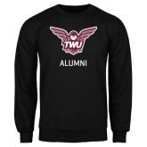 Black Fleece Crew-Alumni Owl TWU