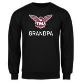 Black Fleece Crew-Grandpa Owl TWU