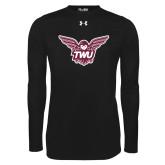 Under Armour Black Long Sleeve Tech Tee-Owl TWU