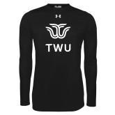 Under Armour Black Long Sleeve Tech Tee-Institutional TWU
