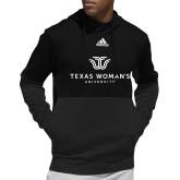 Adidas Black Team Issue Hoodie-Institutional Logo