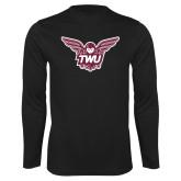 Performance Black Longsleeve Shirt-Owl TWU