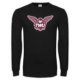 Black Long Sleeve T Shirt-Owl TWU