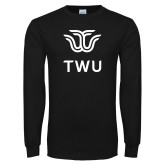 Black Long Sleeve T Shirt-Institutional TWU