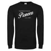Black Long Sleeve T Shirt-Pioneers Established Date