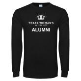Black Long Sleeve T Shirt-Alumni Institutional Logo