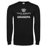 Black Long Sleeve T Shirt-Grandpa Institutional Logo