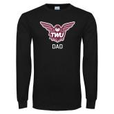 Black Long Sleeve T Shirt-Dad Owl TWU