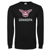 Black Long Sleeve T Shirt-Grandpa Owl TWU