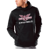 Under Armour Black Armour Fleece Hoodie-Volleyball Owl Graphic