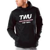 Under Armour Black Armour Fleece Hoodie-Softball TWU Typeface