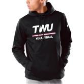 Under Armour Black Armour Fleece Hoodie-Volleyball TWU Typeface