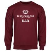 Maroon Fleece Crew-Dad Institutional Logo