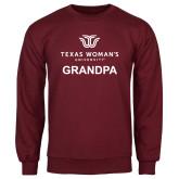 Maroon Fleece Crew-Grandpa Institutional Logo