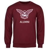 Maroon Fleece Crew-Alumni Owl TWU