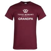 Maroon T Shirt-Grandpa Institutional Logo