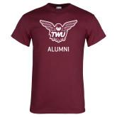 Maroon T Shirt-Alumni Owl TWU