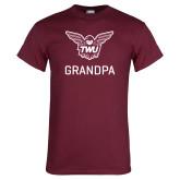 Maroon T Shirt-Grandpa Owl TWU