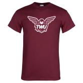 Maroon T Shirt-Owl TWU