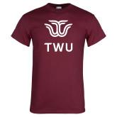 Maroon T Shirt-Institutional TWU