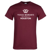 Maroon T Shirt-Houston with Institutional Mark