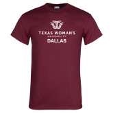 Maroon T Shirt-Dallas with Institutional Mark