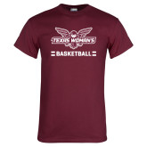 Maroon T Shirt-Basketball Owl Graphic