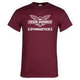 Maroon T Shirt-Gymnastics Owl Graphic