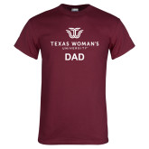 Maroon T Shirt-Dad Institutional Logo