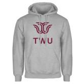 Grey Fleece Hoodie-Institutional TWU