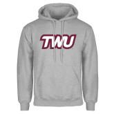 Grey Fleece Hoodie-TWU Typeface