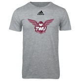 Adidas Sport Grey Logo T Shirt-Owl TWU