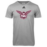 Adidas Climalite Sport Grey Ultimate Performance Tee-Owl TWU