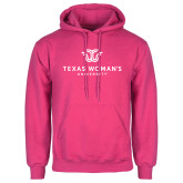 Fuchsia Fleece Hoodie-Institutional Logo