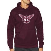 Adidas Maroon Team Issue Hoodie-Owl TWU