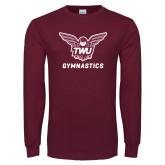 Maroon Long Sleeve T Shirt-Gymnastics