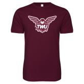 Next Level SoftStyle Maroon T Shirt-Owl TWU