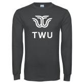 Charcoal Long Sleeve T Shirt-Institutional TWU