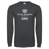 Charcoal Long Sleeve T Shirt-Dad Institutional Logo