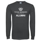 Charcoal Long Sleeve T Shirt-Alumni Institutional Logo