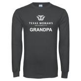 Charcoal Long Sleeve T Shirt-Grandpa Institutional Logo