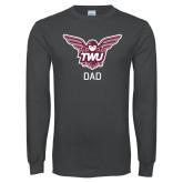 Charcoal Long Sleeve T Shirt-Dad Owl TWU