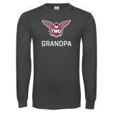 Charcoal Long Sleeve T Shirt-Grandpa Owl TWU