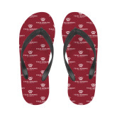Ladies Full Color Flip Flops-Institutional Logo