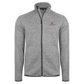 Grey Heather Fleece Jacket-Institutional Logo