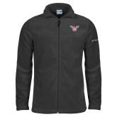 Columbia Full Zip Charcoal Fleece Jacket-Owl TWU